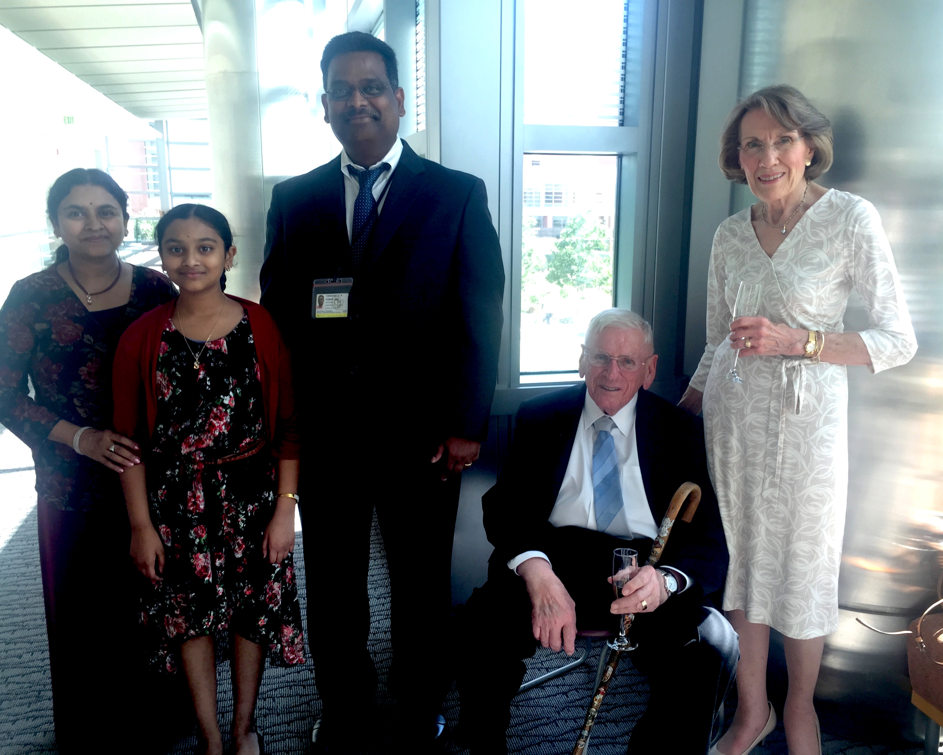Dr. Kumar and his family together with Dr. and Mrs. Edgar Makowski in 2016.