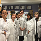 A group of MS-RSM students in the lab.